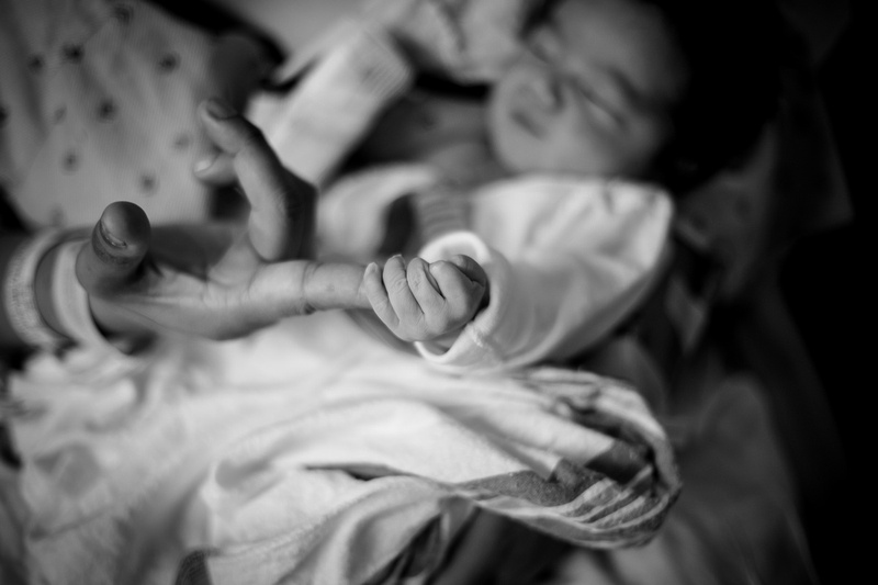Birth photography photos at Cedars Sinai in Los Angeles, CA. NICU baby, emergency C Section.