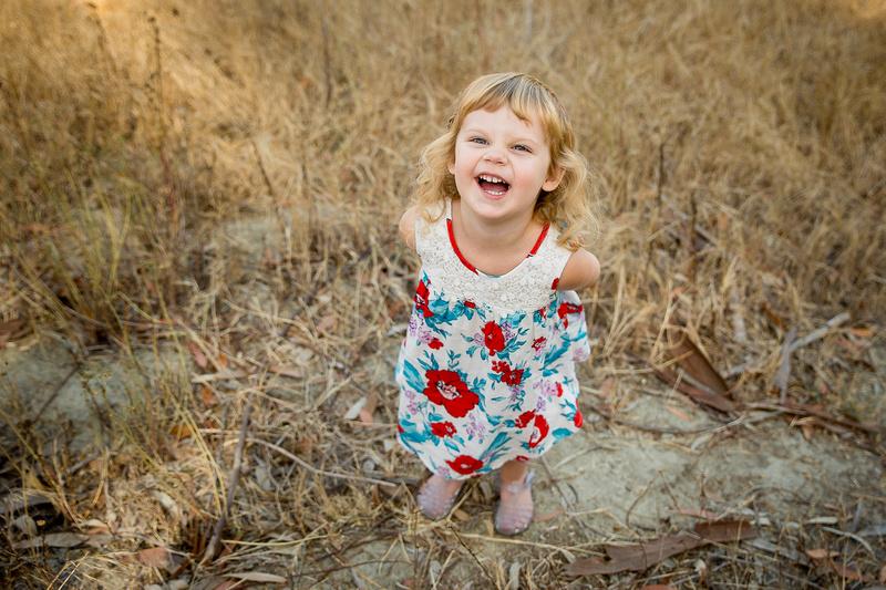 Little girl giggles